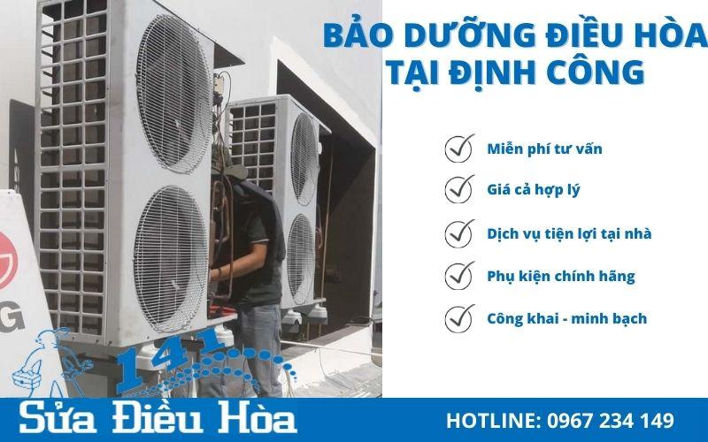 dịch vụ bảo dưỡng điều hòa tại Định Công