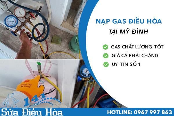 nạp gas điều hòa tại mỹ đình