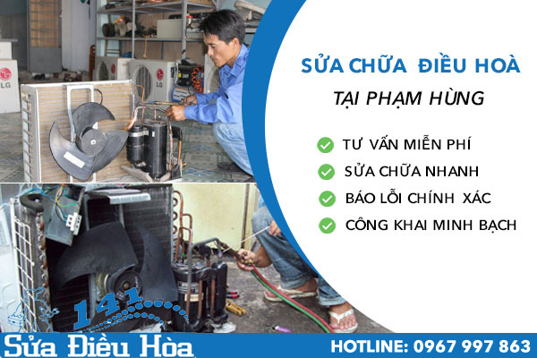 sửa chữa điều hòa tại Phạm Hùng