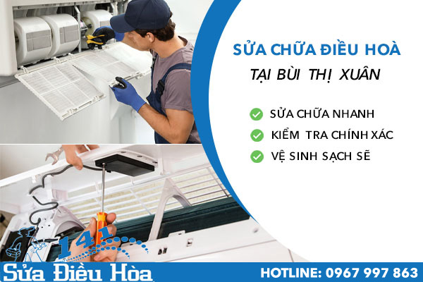 sửa chữa bảo dưỡng điều hòa tại Bùi Thị Xuân