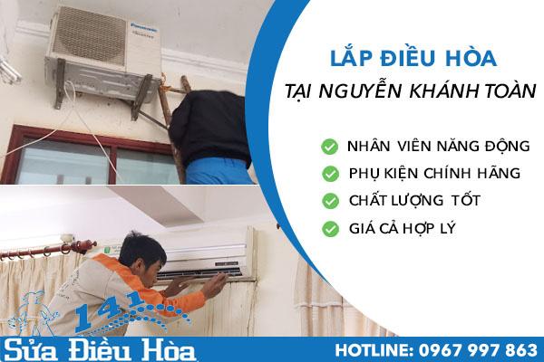 Lắp điều hòa tại Nguyễn Khánh Toàn