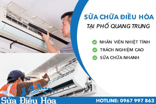 sửa chữa điều hòa tại phố Quang Trung