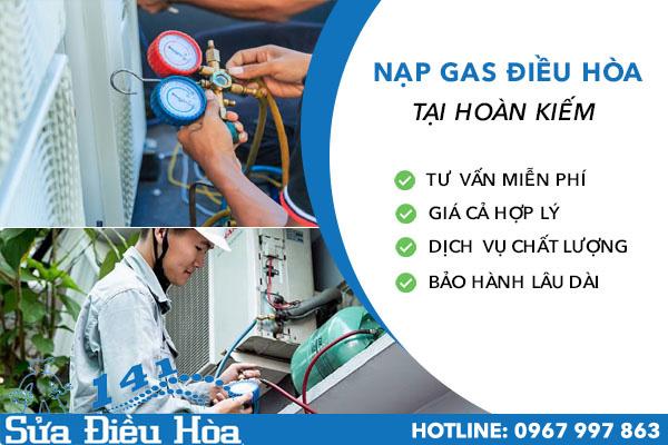 nạp gas điều hòa tại quận Hoàn Kiếm