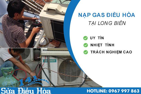 nạp gas điều hòa tại Long Biên